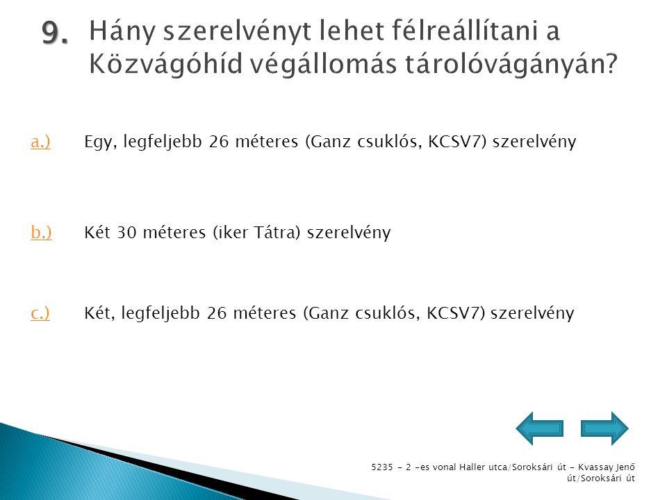 5235 - 2 -es vonal Haller utca/Soroksári út - Kvassay Jenő út/Soroksári út 9.