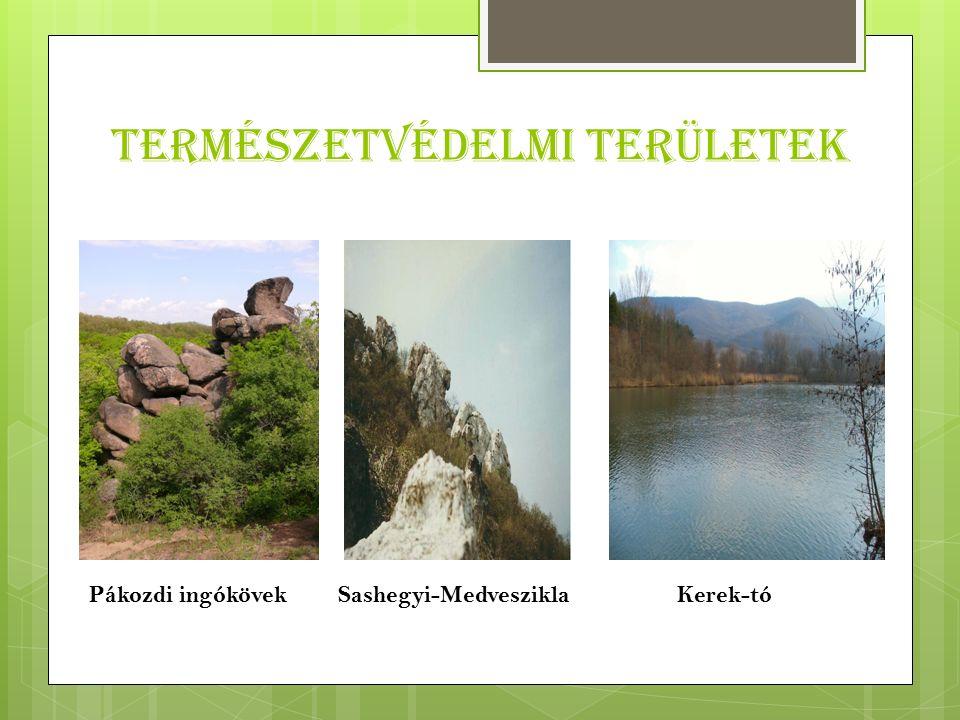 Természetvédelmi területek Pákozdi ingókövekSashegyi-Medveszikla Kerek-tó