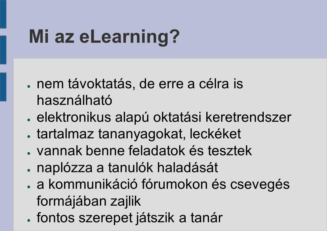 Mi az eLearning.