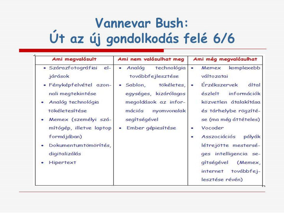 Vannevar Bush: Út az új gondolkodás felé 6/6