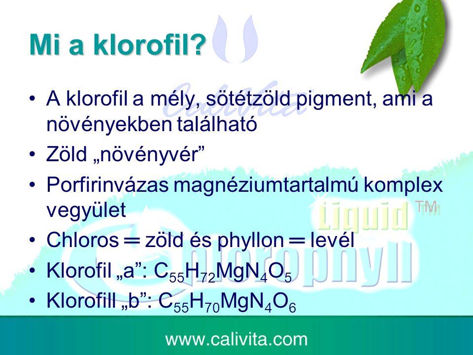 Mi a klorofil.