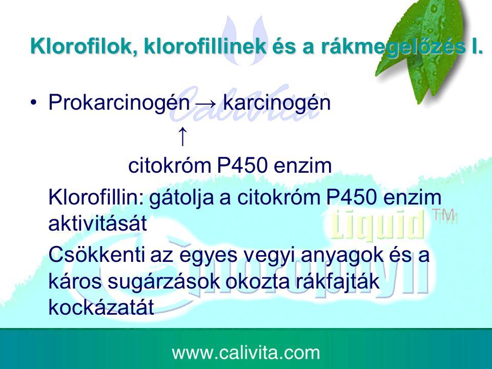 Klorofilok, klorofillinek és a rákmegelőzés I.