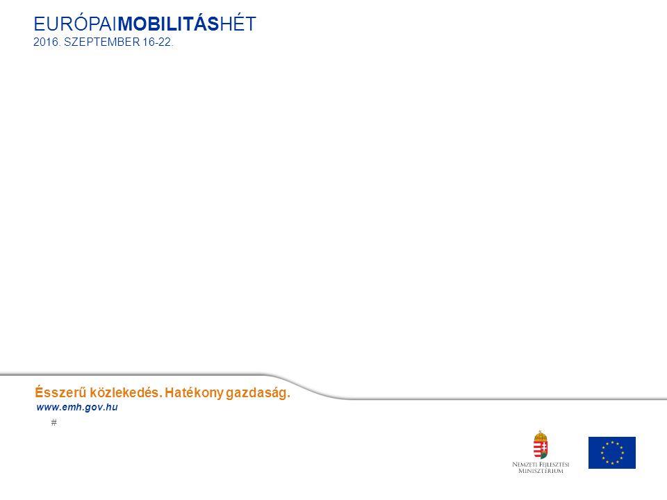 Ésszerű közlekedés. Hatékony gazdaság. www.emh.gov.hu EURÓPAIMOBILITÁSHÉT 2016. SZEPTEMBER 16-22. #