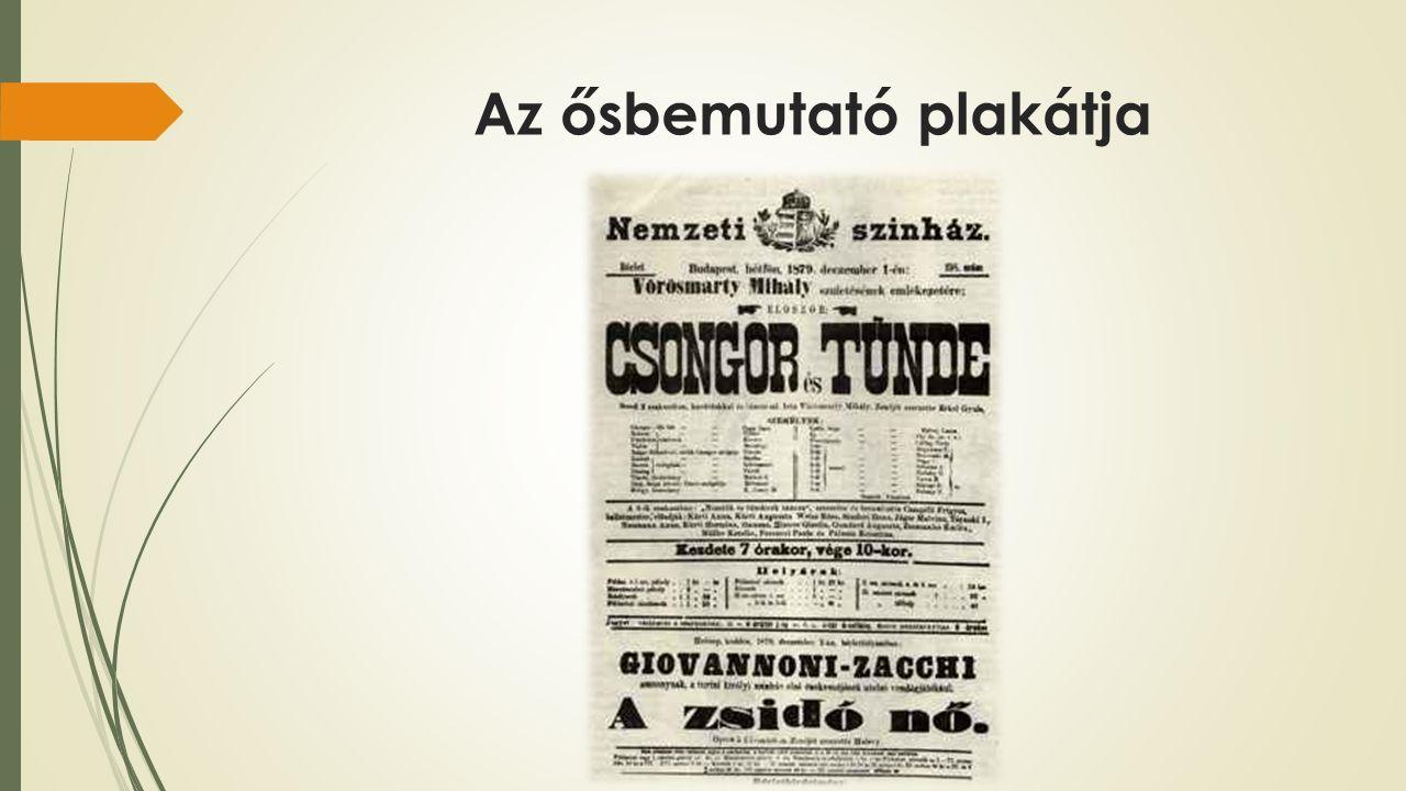 Az ősbemutató plakátja