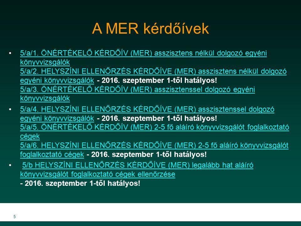 A MER kérdőívek 5/a/1.