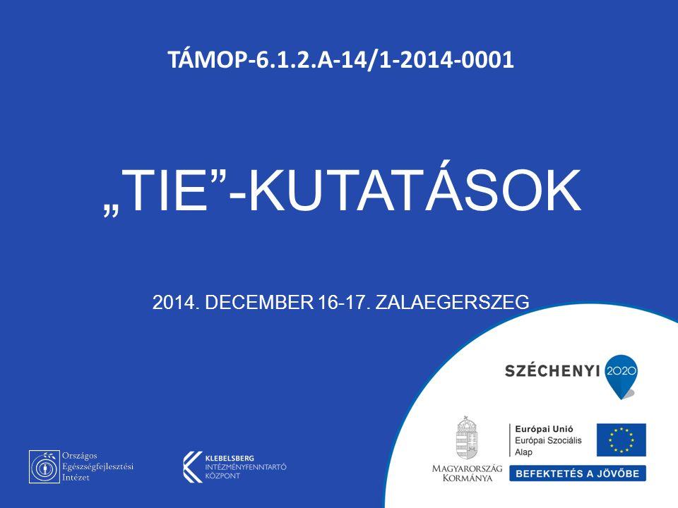 """TÁMOP-6.1.2.A-14/1-2014-0001 """"TIE -KUTATÁSOK 2014. DECEMBER 16-17. ZALAEGERSZEG"""