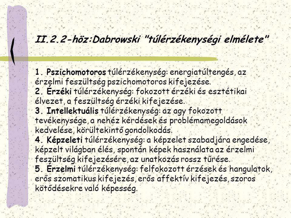 II.3.Intellektuális (kognitív) aspektus 1.