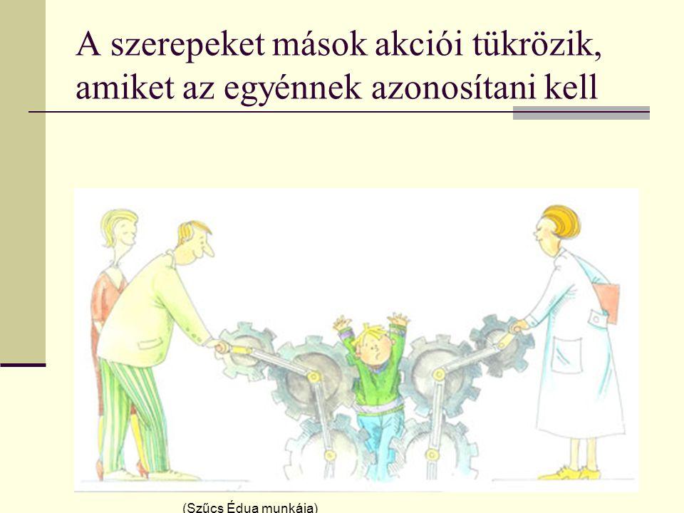 A szerepeket mások akciói tükrözik, amiket az egyénnek azonosítani kell (Szűcs Édua munkája)