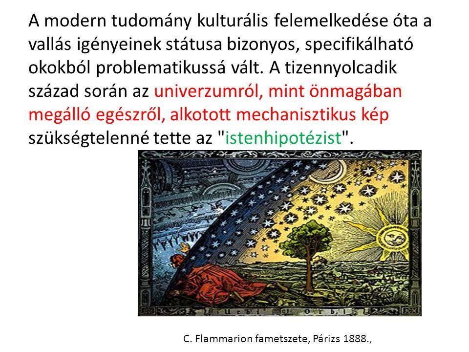 A modern tudomány kulturális felemelkedése óta a vallás igényeinek státusa bizonyos, specifikálható okokból problematikussá vált.