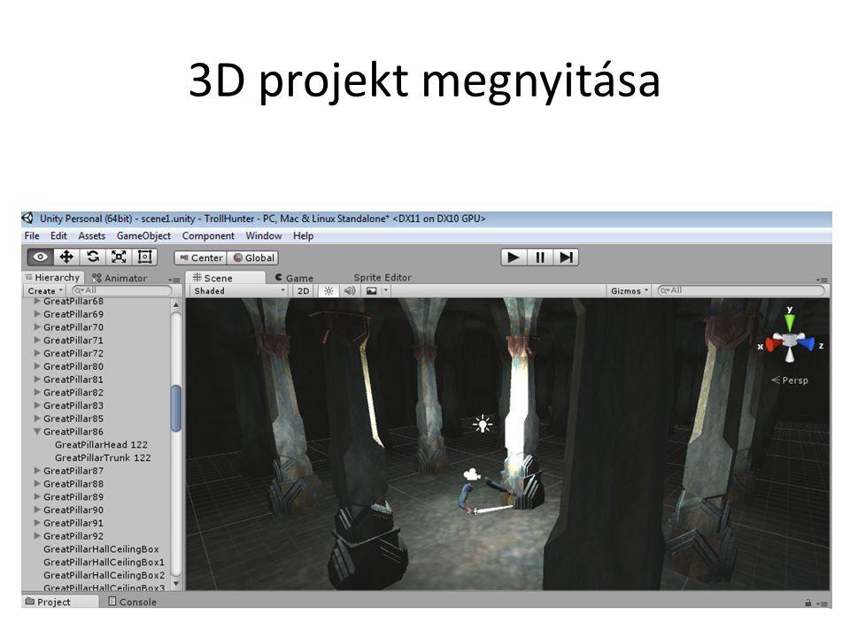 3D projekt megnyitása