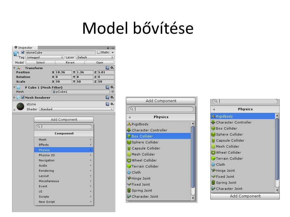 Model bővítése