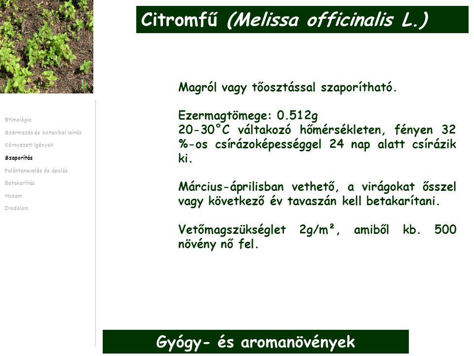 A tőosztást február-márciusban kell elvégezni Az új meggyökeresedett szárrészeket az anyanövény köré kell ültetni, így már az első évben is lesz hozam.