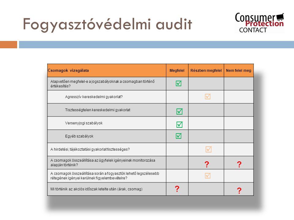 Agresszív gyakorlat Választhat a fogyasztó 5 fix összetételű csomag közül, s ezekhez külön díjért még rendelhet speciális csatornákat Vs.