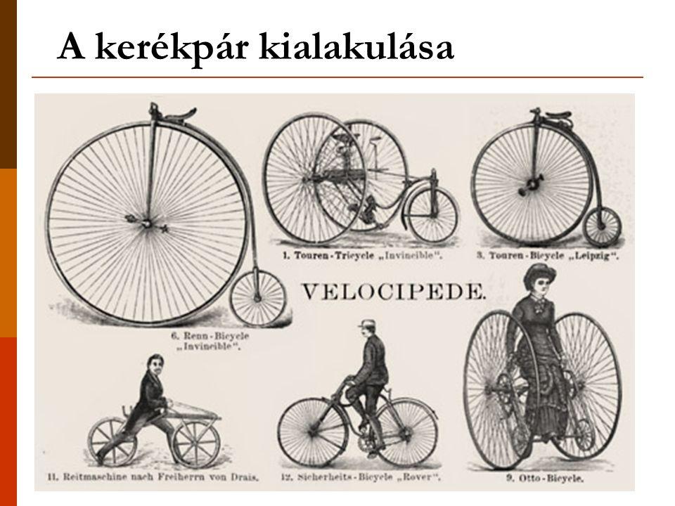 A kerékpár kialakulása