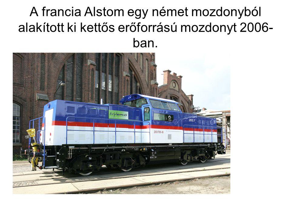 A francia Alstom egy német mozdonyból alakított ki kettős erőforrású mozdonyt 2006- ban.