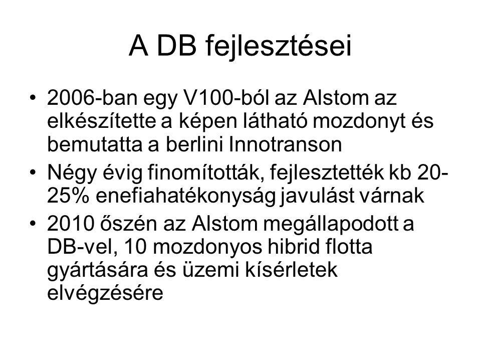 A DB fejlesztései 2006-ban egy V100-ból az Alstom az elkészítette a képen látható mozdonyt és bemutatta a berlini Innotranson Négy évig finomították, fejlesztették kb 20- 25% enefiahatékonyság javulást várnak 2010 őszén az Alstom megállapodott a DB-vel, 10 mozdonyos hibrid flotta gyártására és üzemi kísérletek elvégzésére