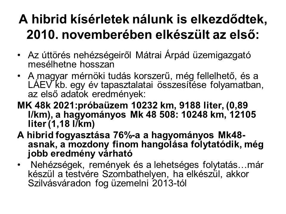 Az úttörés nehézségeiről Mátrai Árpád üzemigazgató mesélhetne hosszan A magyar mérnöki tudás korszerű, még fellelhető, és a LÁEV kb.