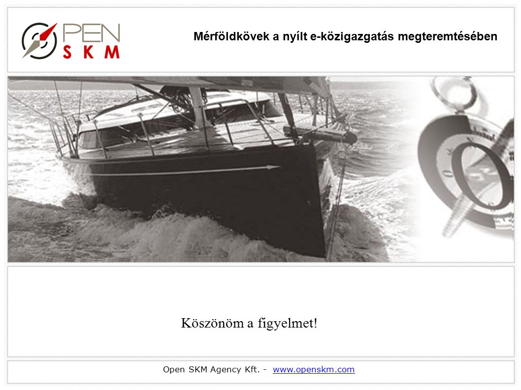 Open SKM Agency Kft. - www.openskm.comwww.openskm.com Köszönöm a figyelmet.