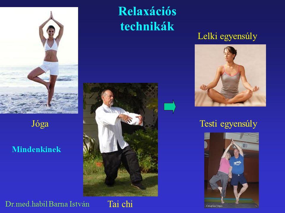 Dr.med.habil Barna István Relaxációs technikák Lelki egyensúly Testi egyensúly Mindenkinek Jóga Tai chi