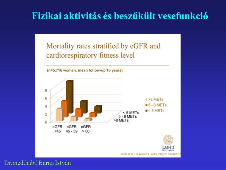 Dr.med.habil Barna István Fizikai aktivitás és beszűkült vesefunkció