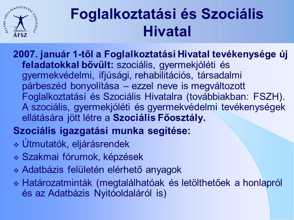 Foglalkoztatási és Szociális Hivatal 2007.