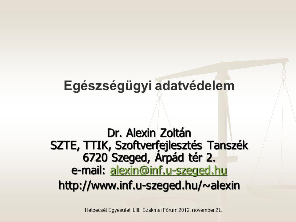 Hétpecsét Egyesület, LIII. Szakmai Fórum 2012. november 2 1.