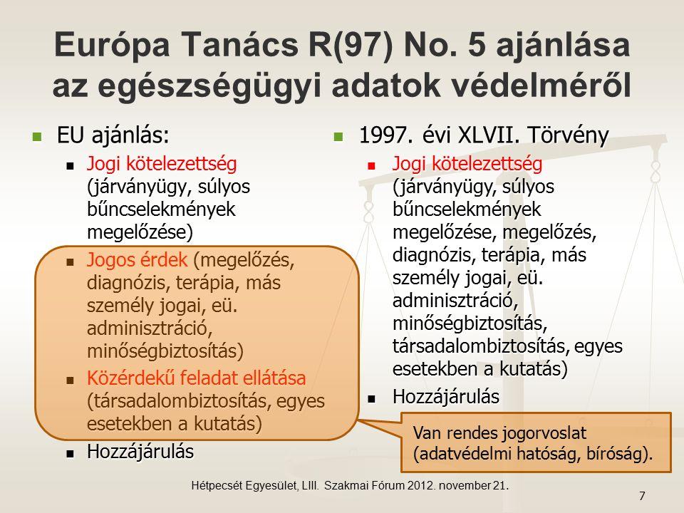 Európa Tanács R(97) No.