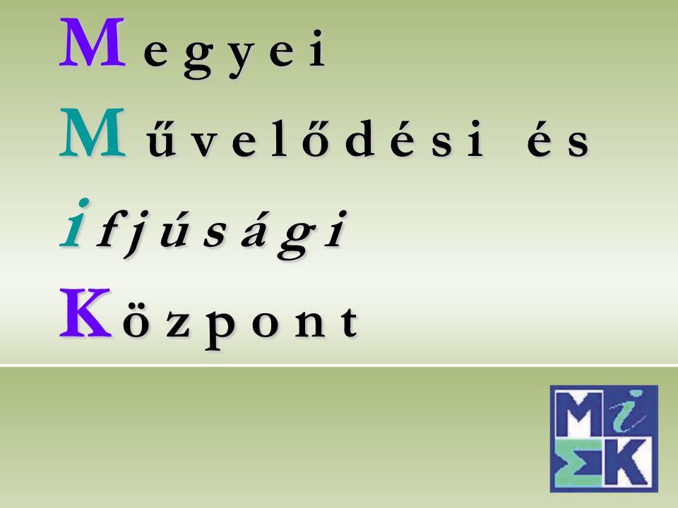 M e g y e i M ű v e l ő d é s i é s i f j ú s á g i K ö z p o n t