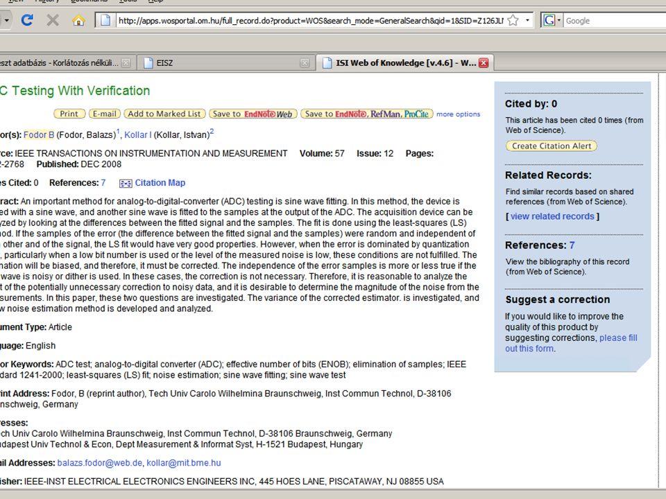 István Kollár 15 Informatio Medicata 2009