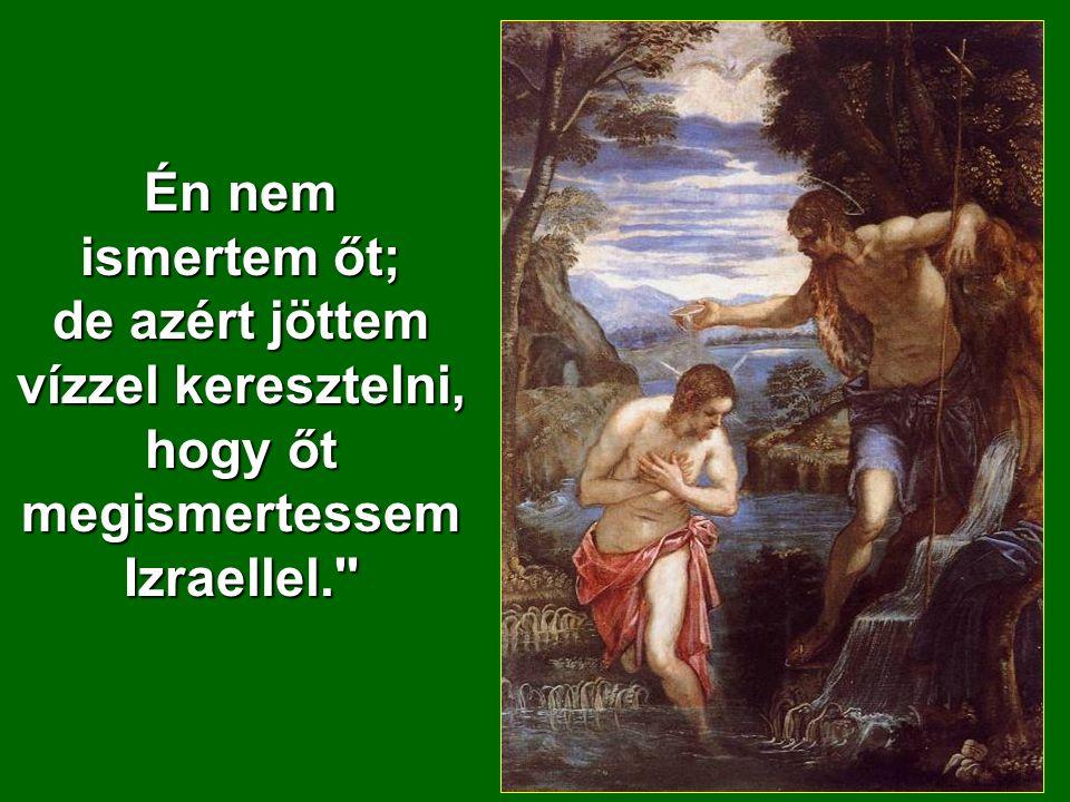 Én nem ismertem őt; de azért jöttem vízzel keresztelni, hogy őt megismertessem Izraellel.