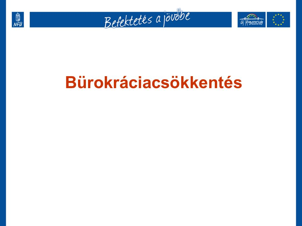 Bürokráciacsökkentés