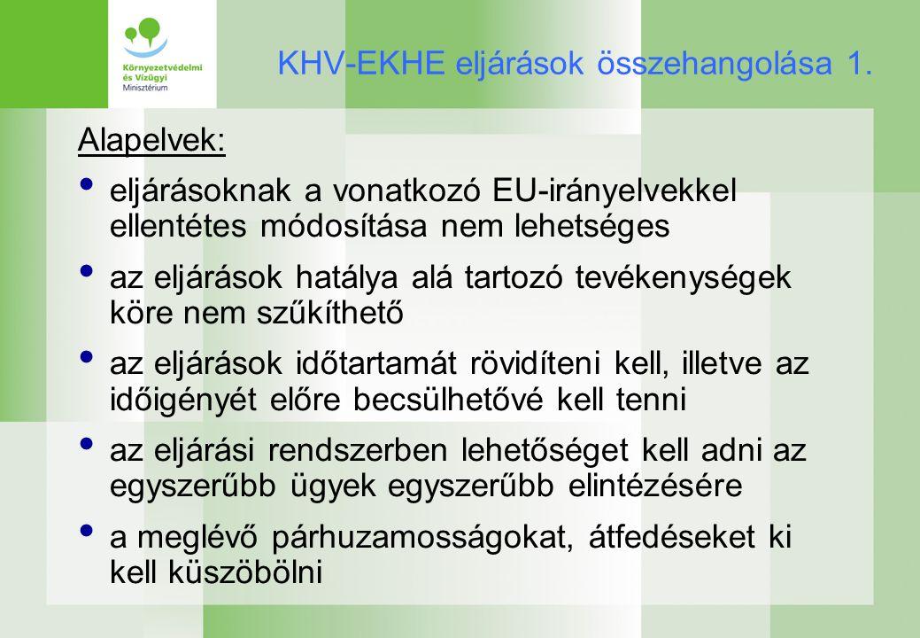 KHV-EKHE eljárások összehangolása 1.