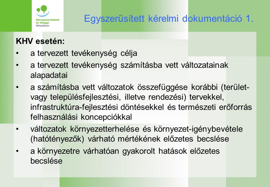 Egyszerűsített kérelmi dokumentáció 1.