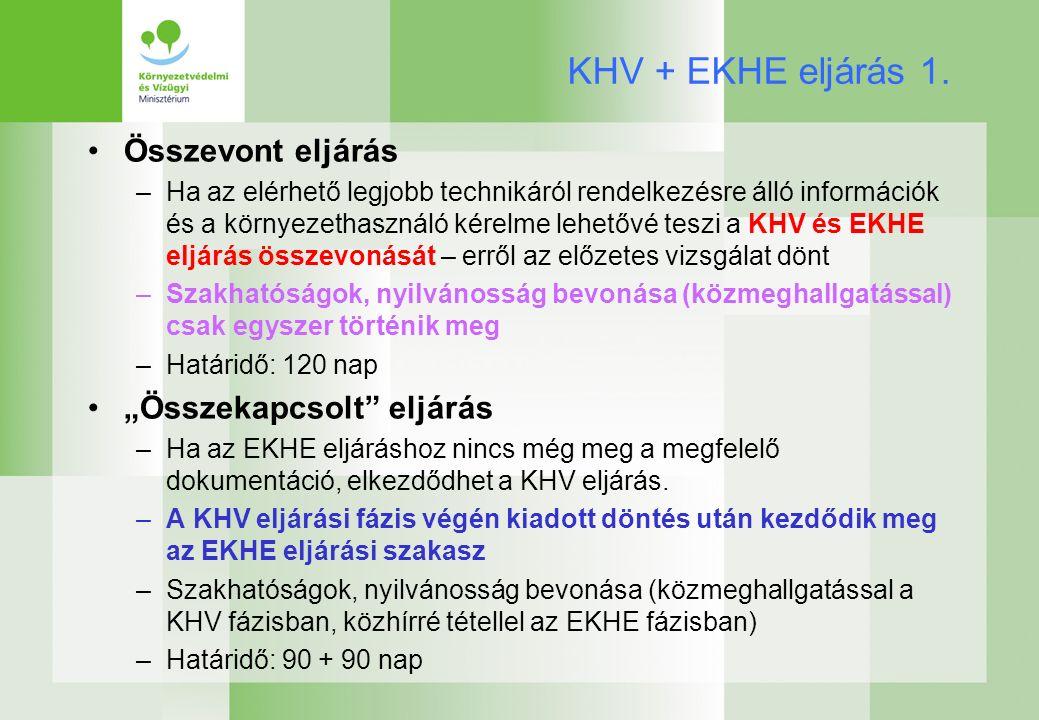 KHV + EKHE eljárás 1.