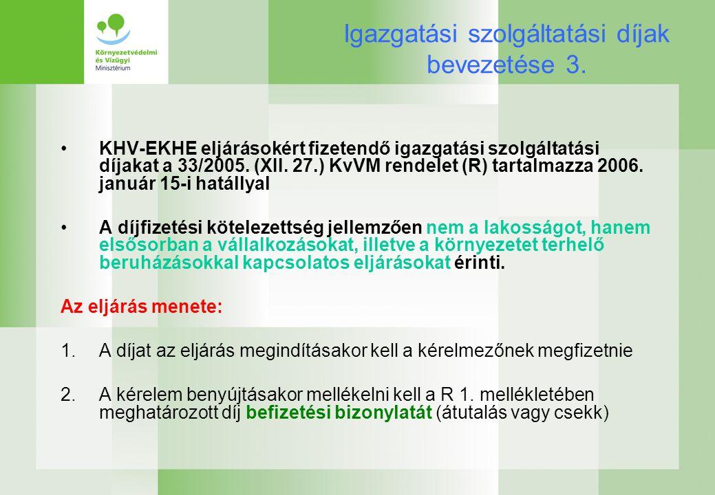 Igazgatási szolgáltatási díjak bevezetése 3.