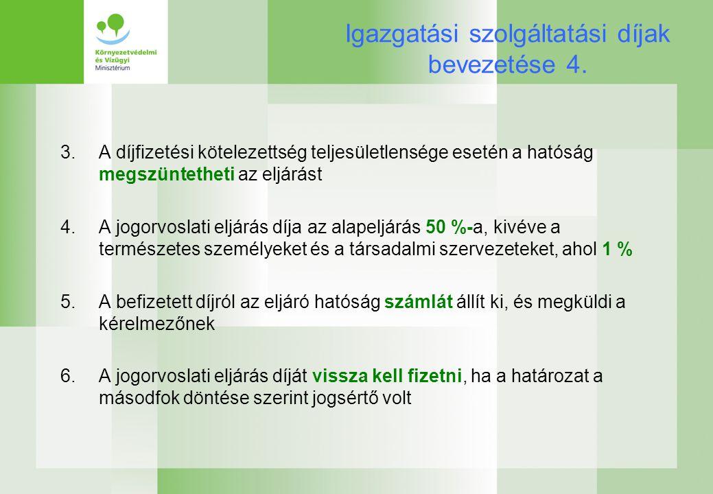 Igazgatási szolgáltatási díjak bevezetése 4.