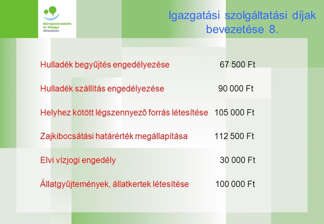Igazgatási szolgáltatási díjak bevezetése 8.