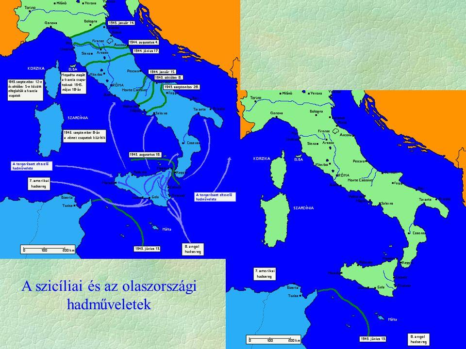 A szicíliai és az olaszországi hadműveletek