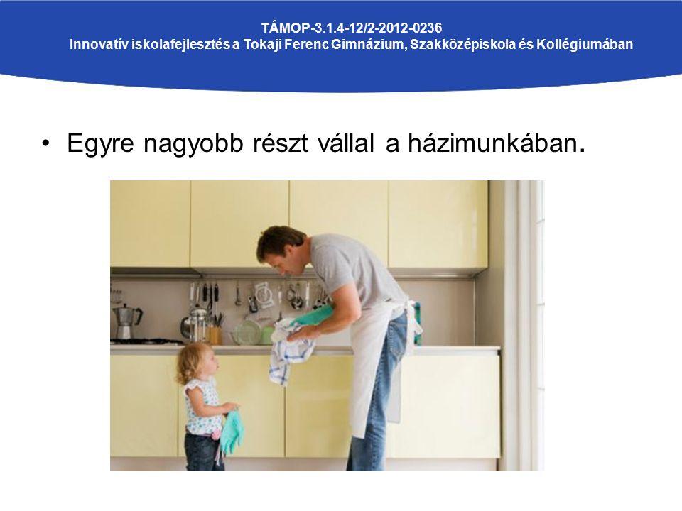 Egyre nagyobb részt vállal a házimunkában. TÁMOP-3.1.4-12/2-2012-0236 Innovatív iskolafejlesztés a Tokaji Ferenc Gimnázium, Szakközépiskola és Kollégi