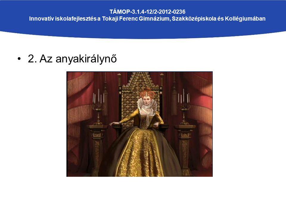 2. Az anyakirálynő TÁMOP-3.1.4-12/2-2012-0236 Innovatív iskolafejlesztés a Tokaji Ferenc Gimnázium, Szakközépiskola és Kollégiumában