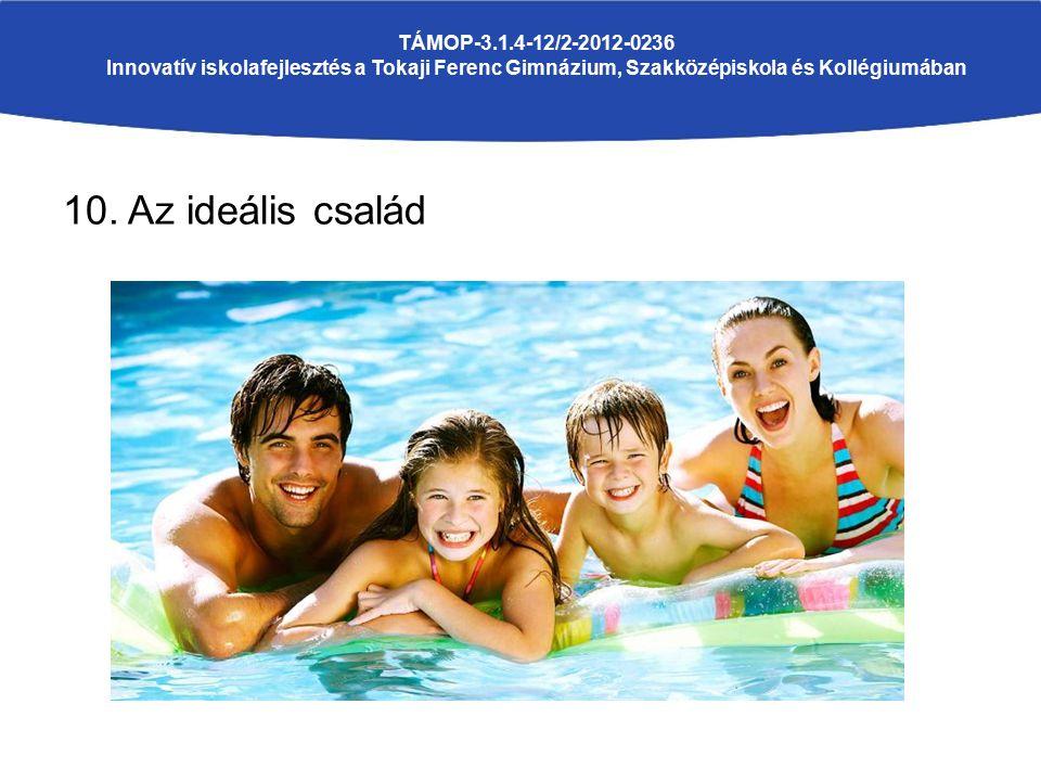 10. Az ideális család TÁMOP-3.1.4-12/2-2012-0236 Innovatív iskolafejlesztés a Tokaji Ferenc Gimnázium, Szakközépiskola és Kollégiumában