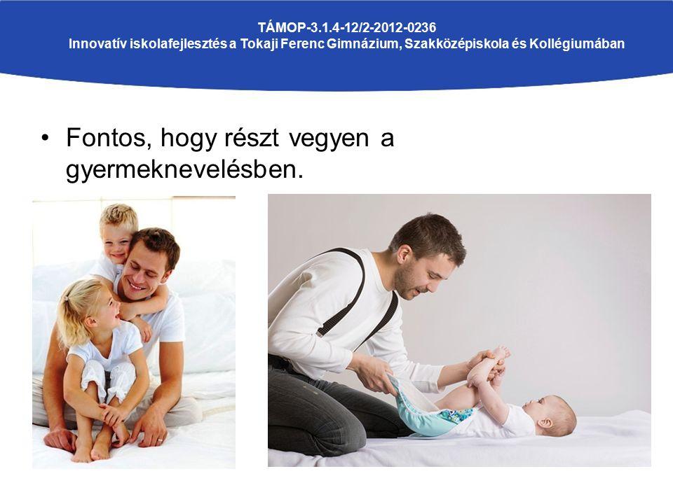 Fontos, hogy részt vegyen a gyermeknevelésben. TÁMOP-3.1.4-12/2-2012-0236 Innovatív iskolafejlesztés a Tokaji Ferenc Gimnázium, Szakközépiskola és Kol