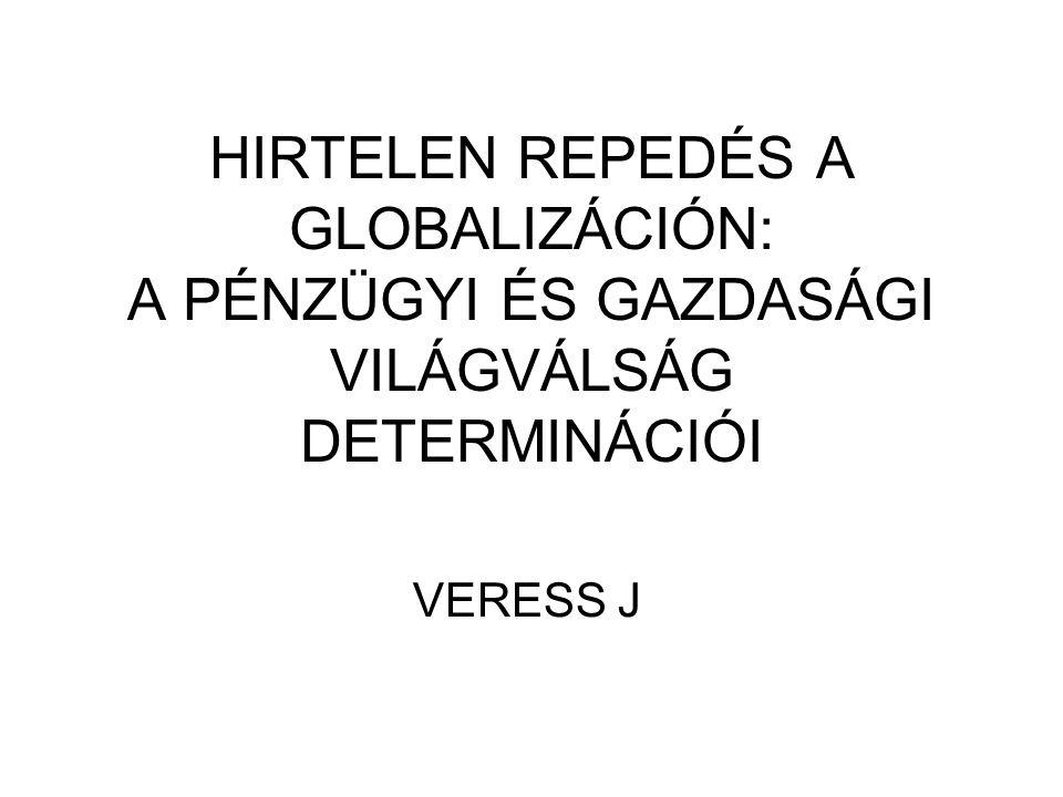 """KÉT ÉVTIZED """"MEGRÁZÓ VÁLSÁGAI MEXIKÓI VÁLSÁG (1994) """"ÁZSIAI VÁLSÁG OROSZ VÁLSÁG, LTCM TÖRÖK ÉS ARGENTÍN VÁLSÁG DOTCOMVÁLSÁG, KREATÍV KÖNYVELÉSI VÁLSÁG"""