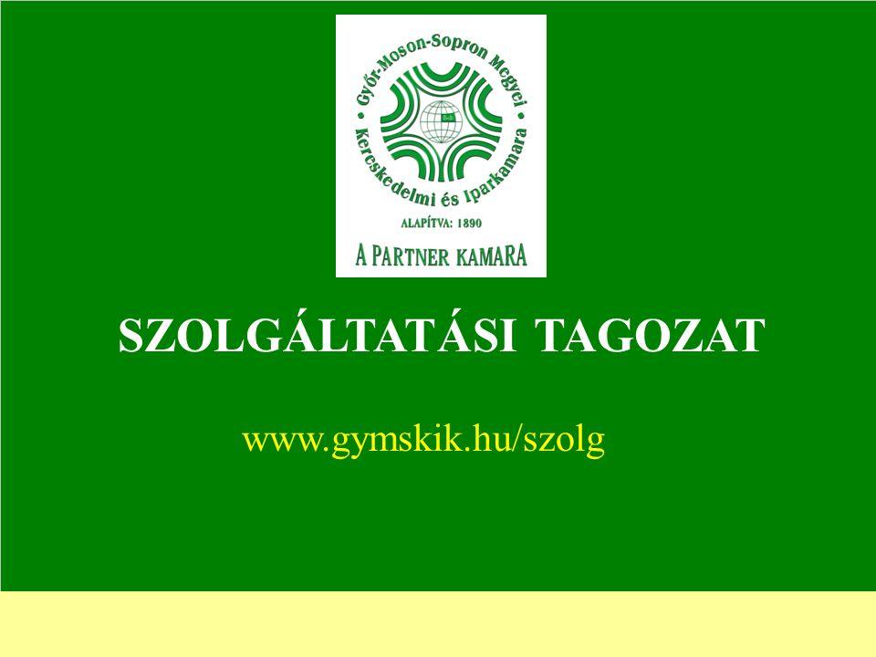 SZOLGÁLTATÁSI TAGOZAT www.gymskik.hu/szolg