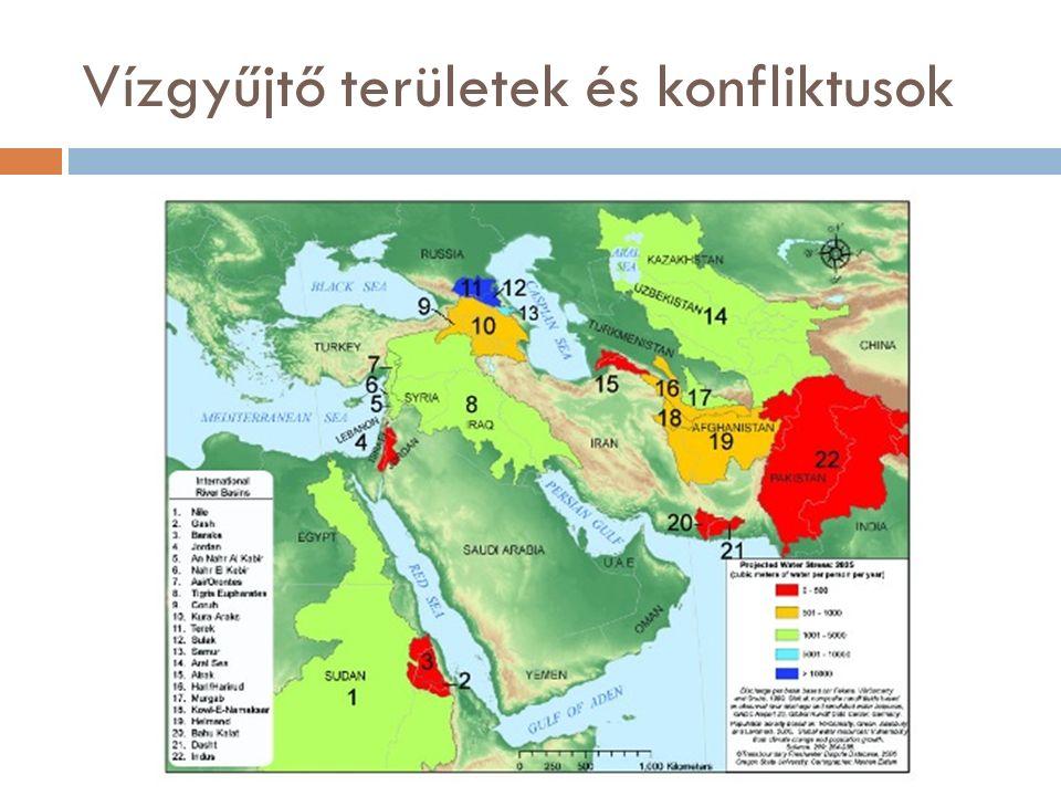 Vízgyűjtő területek és konfliktusok