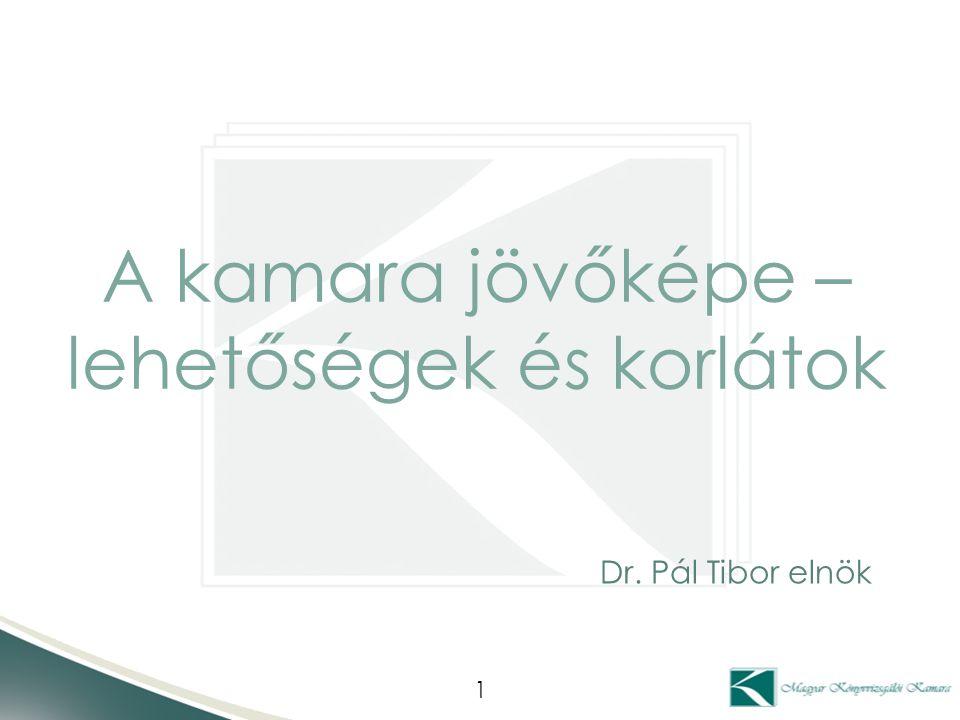 A kamara jövőképe – lehetőségek és korlátok 1 Dr. Pál Tibor elnök
