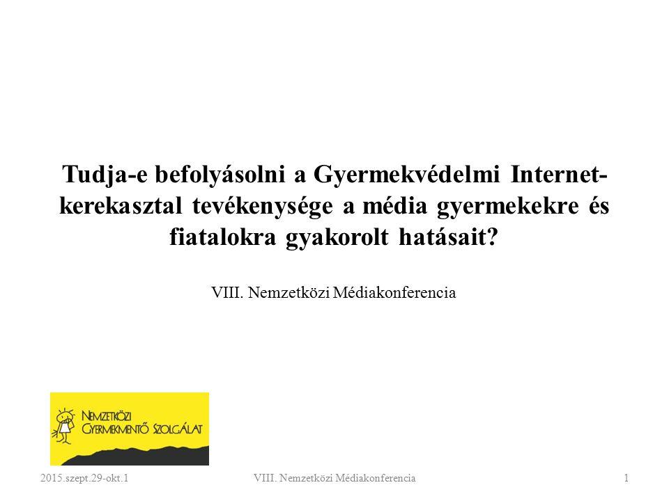 JOGSZABÁLYI HÁTTÉR A Kerekasztal hatáskörét az elektronikus kereskedelmi szolgáltatások, valamint az információs társadalommal összefüggő szolgáltatások egyes kérdéseiről szóló 2001.évi CVIII.