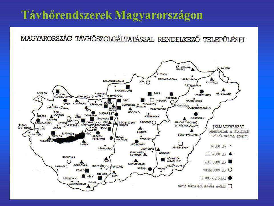 Távhőrendszerek Magyarországon