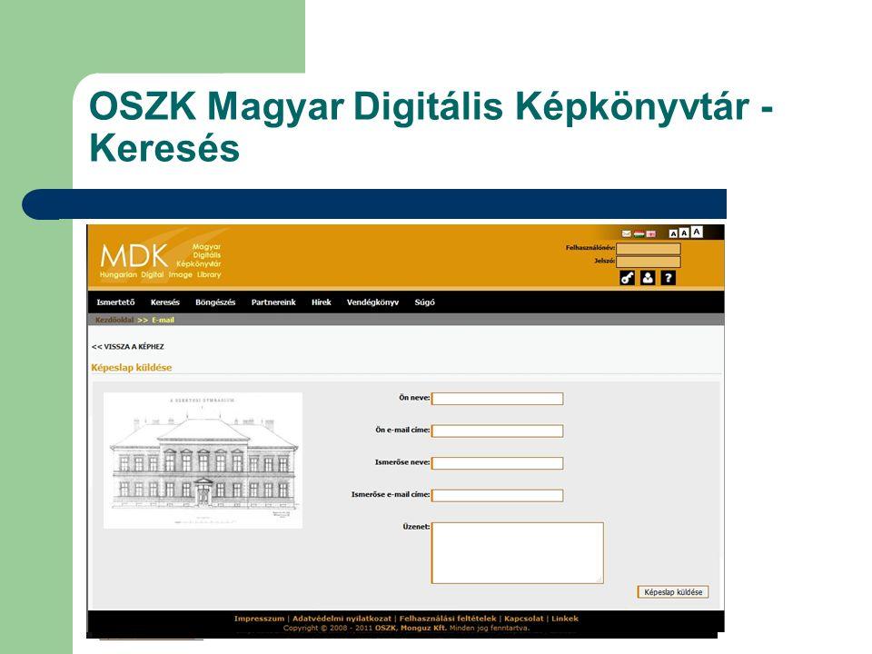 OSZK Magyar Digitális Képkönyvtár - Keresés