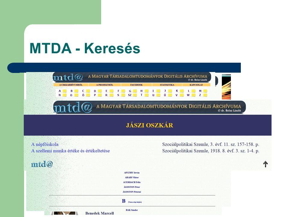 MTDA - Keresés